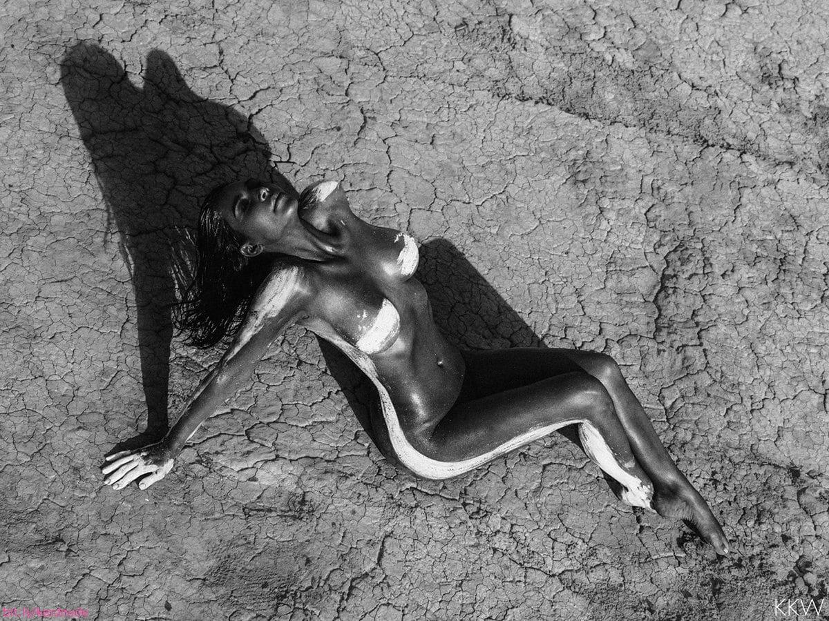 Kim K naked desert shoot